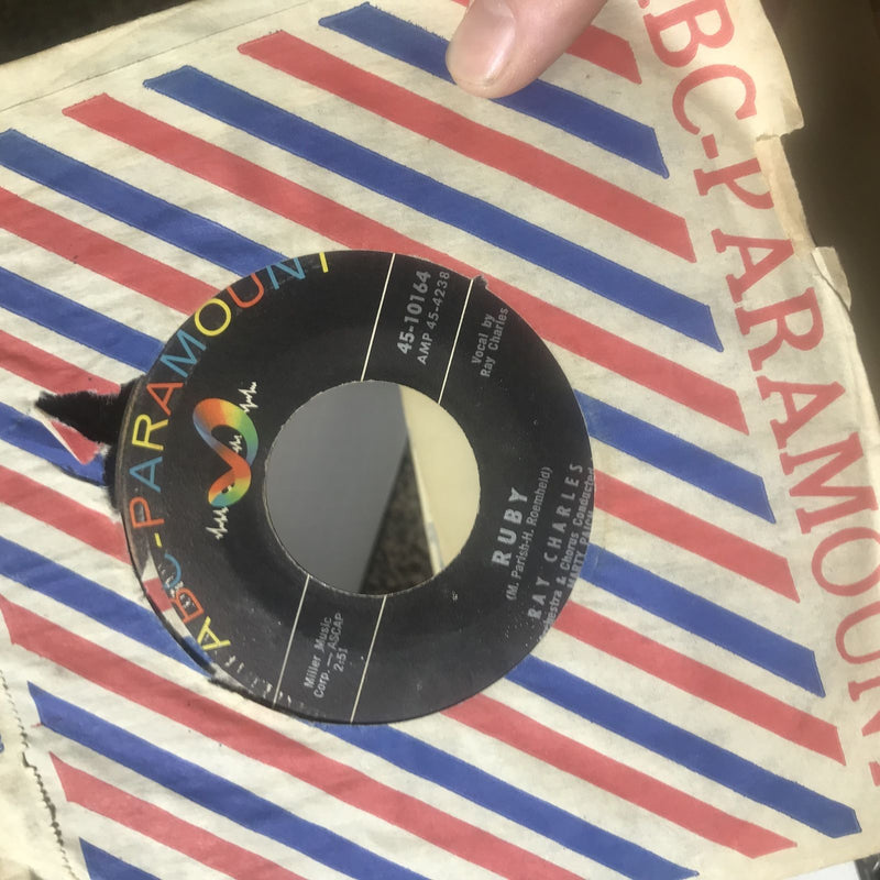 Ray Charles- Ruby/Hardhearted Hannah- ABC 45-10164- VG+