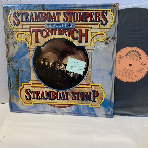 Steamboat Stompers Tony Brych Supraphon Czech Press Jazz Record LP VG++