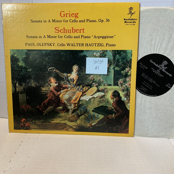 Paul Olefsky Grieg Schubert Yorkshire Stereo Classical Record LP VG+-/VG+