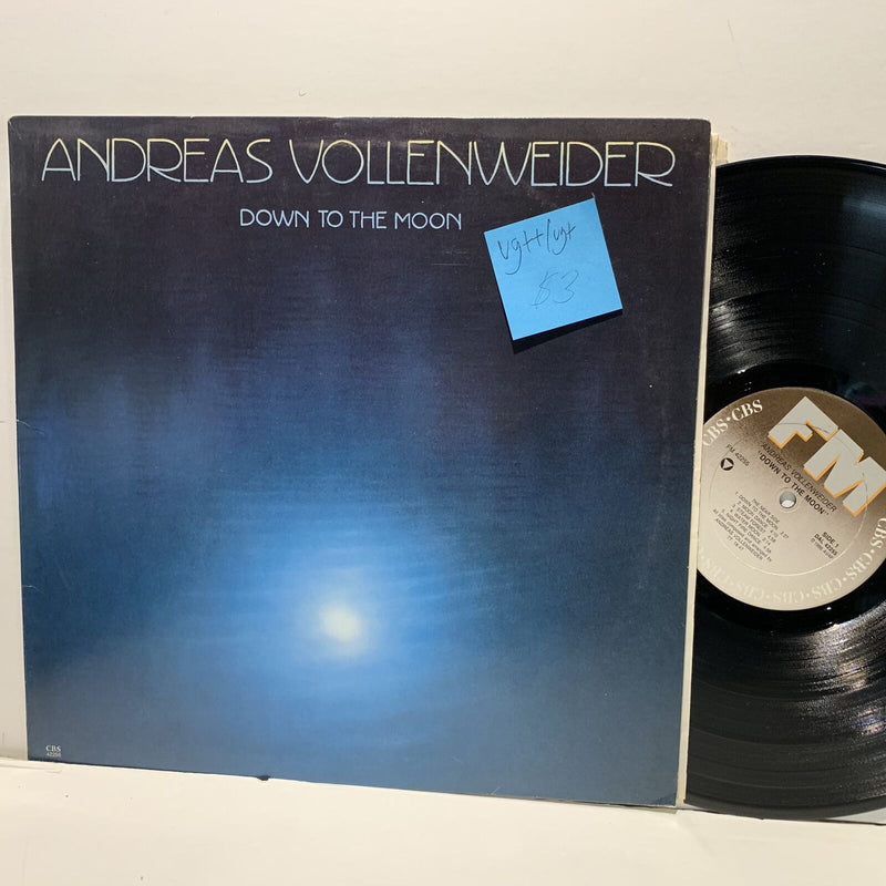 Andreas Vollenweider- Down To The Moon- FM Electronic Experimental LP- VG++