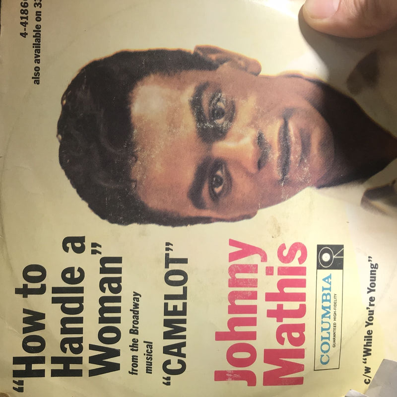 Johnny Mathis- How To Handle A Woman- Columbia 41866- VG w/pic sleeve