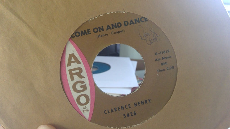 Clarence Henry ‎– The Jealous Kind / Come On And Dance - Argo 5426 - VG+ Soul 45