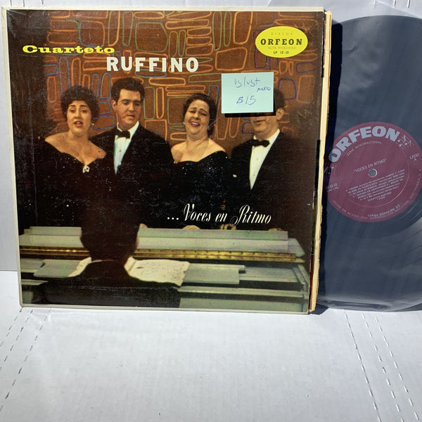 Cuarteto Ruffino Voces En Ritmo- Orfeon 12-10 VG/VG+ Mexico Press Latin LP