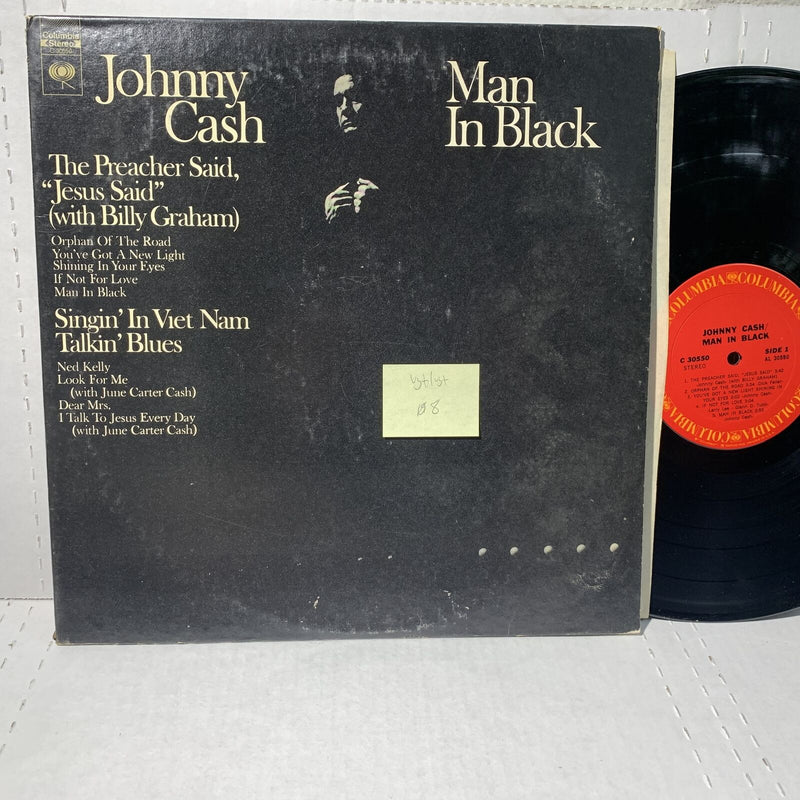 Johny Cash Man In Black- Columbia C 30550 VG+/VG+ Country Record LP