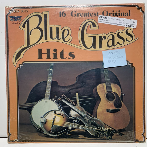 16 Greatest Original Bluegrass Hits Starday 3015 Sealed Country LP