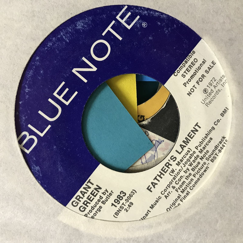 Grant Green- Father's Lament- Blue Note 1983- PROMO VG+ Jazz Funk 45