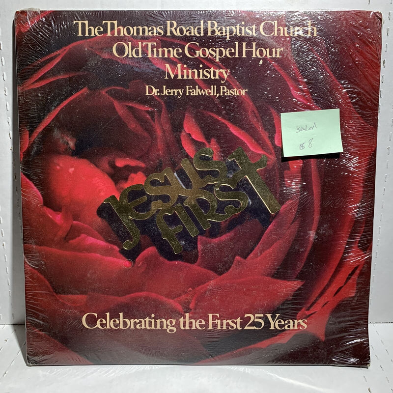 Jerry Fallwell Jesus First Thomas Road Baptist 2LP SEALED Gospel w/ book