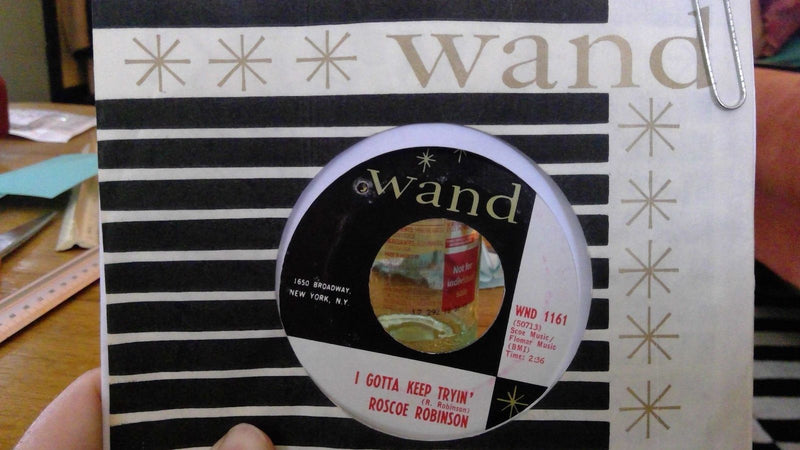 Roscoe Robinson- I Gotta Keep Trying- Wand 1161- Rare Funk 45 VG+