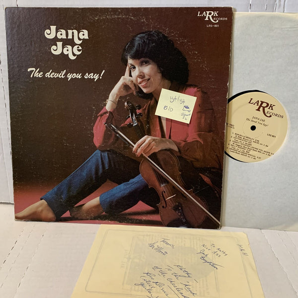Jana Jae The Devil You Say- Lark LRS 801 VG+/VG+ Country Record LP Signed x2