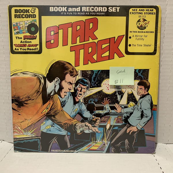Star Trek Book & Record Mirror For Futility- Power BR 513 SEALED Novelty LP
