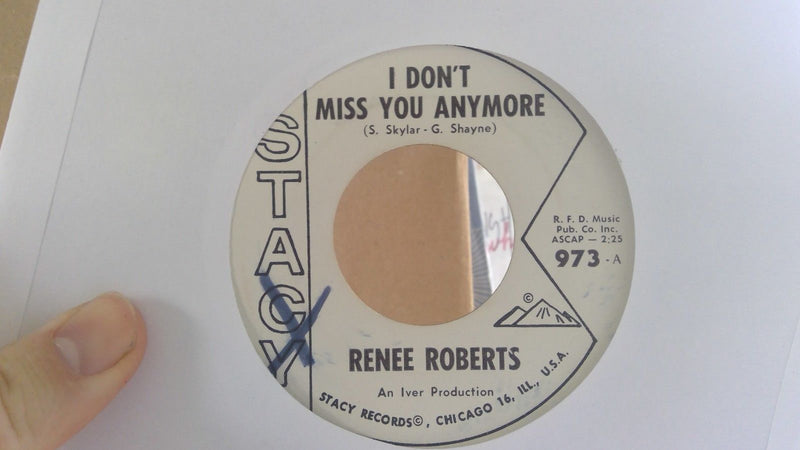 Rene Roberts- I Don't Miss You Anymore- Stacy 973 PROMO- EX, WOL Swing