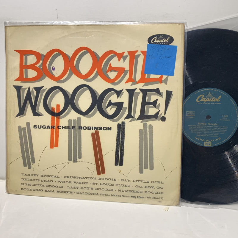 Sugar Chile Robinson Boogie Woogie- Capitol 589 VG(+)/VG(+) German Blues