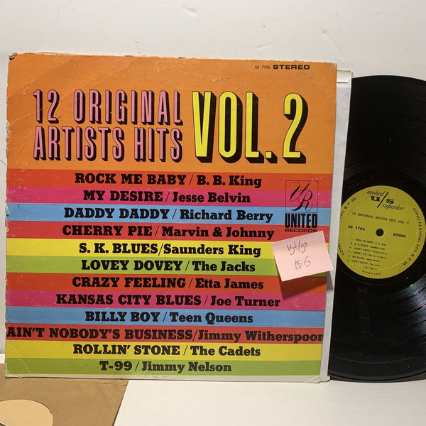 12 Original Hits Original Artists Vol 2 United Superior VG+ Blues Soul Comp