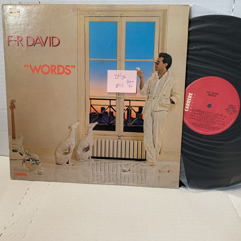 F.R. David Words- Carrere CALP 1001 26 Disco Vinyl Record LP VG+/VG+ 1982