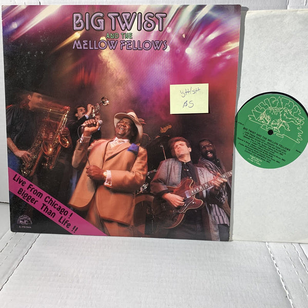 Big Twist Mellow Fellows Live Chicago Blues Vinyl Record LP Alligator VG++