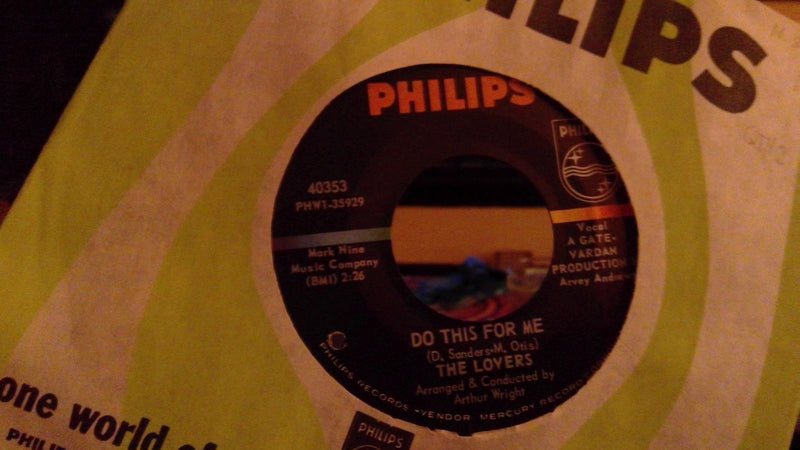 Lovers- Do This For Me/ Someone- Philips 40353 Rare Soul 45