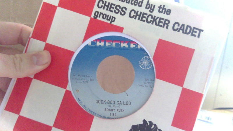 Bobby Rush- Sock Boo Ga Loo/ Much To Much- Checker 1182- Funk 45 EX