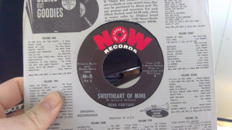 Robb Fortune- Crazy Feeling/Sweetheart of Mine- Now Records N-2 EX Soul 45