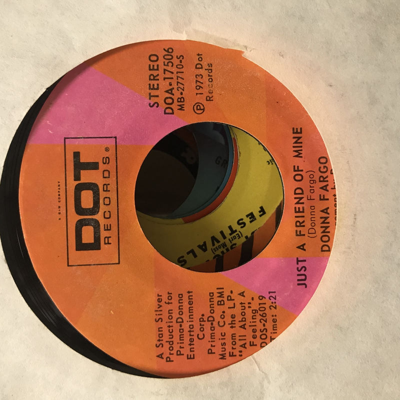Donna Fargo- You Cant Be A Beacon/Just A Friend Of Mine- Dot DOA 17506
