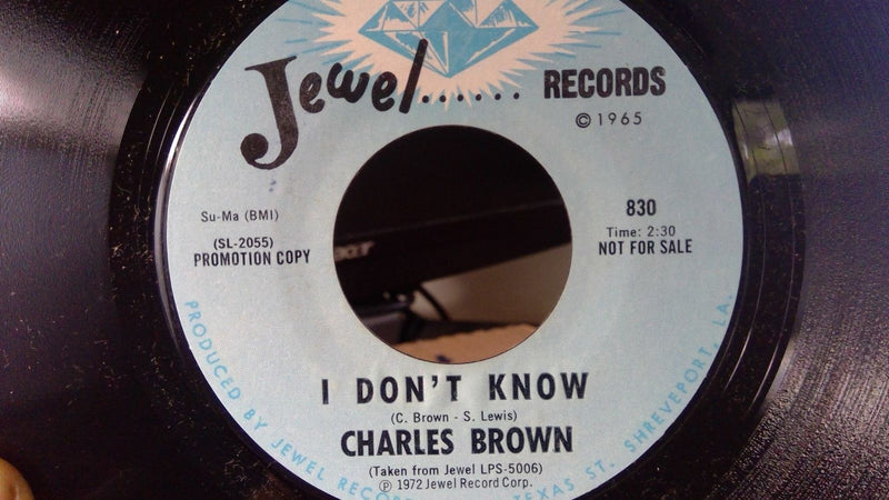 Charles Brown- For You / I Don't Know- Jewel 830 EX PROMO