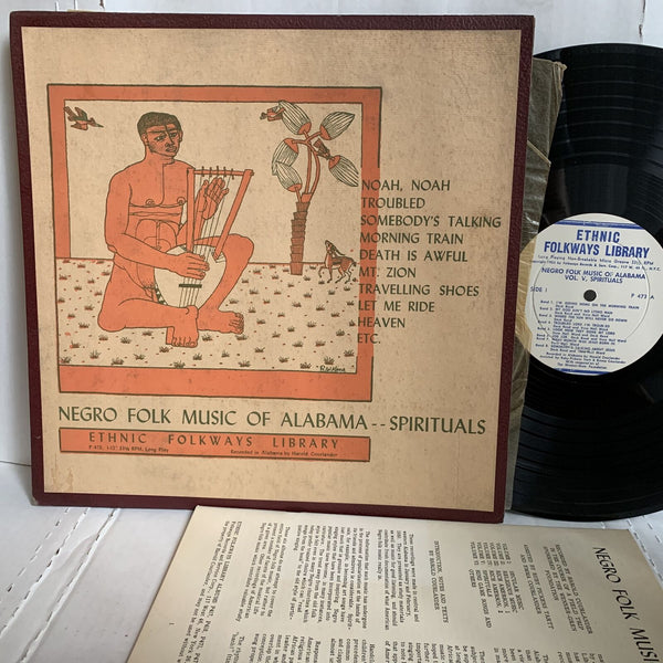 Negro Folk Music Of Alabama Spirituals Vol 5- Folkways 473 RARE Gospel Blues