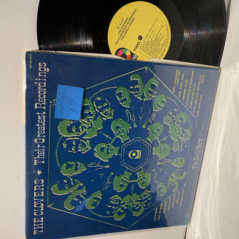 The Clovers- Their Greatest Recordings- Atco Soul Comp LP- VG++/VG+
