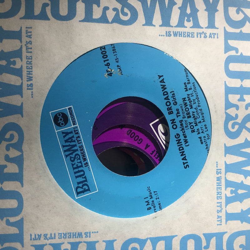 Roy Brown- Standing On Broadway- Bluesway 61002- EX Blues 45