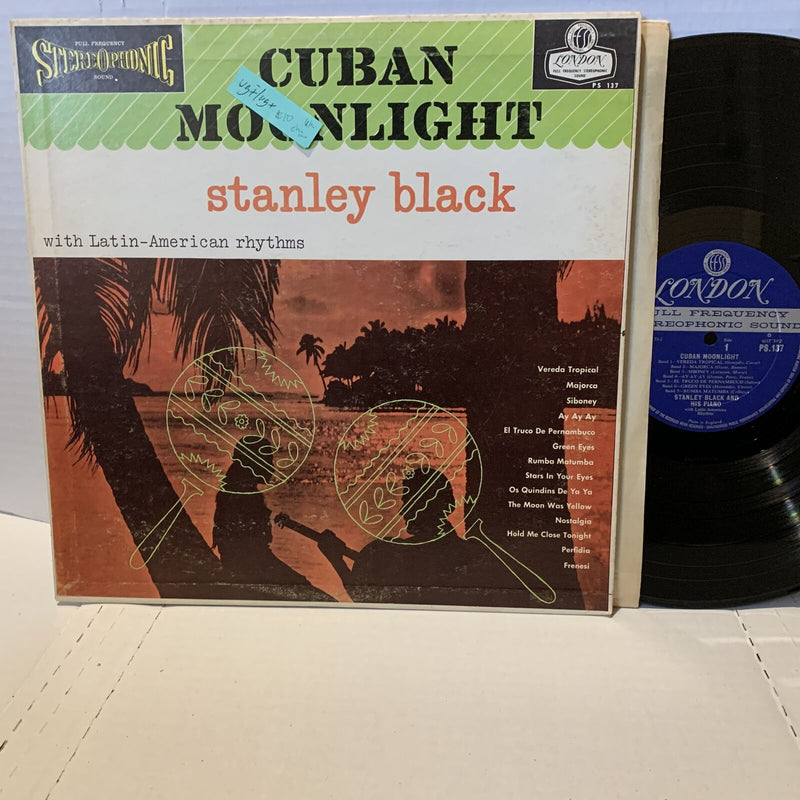 Stanley Black- Cuban Moonlight- London PS 137 UK Press VG(+)/VG+ Cha Cha LP