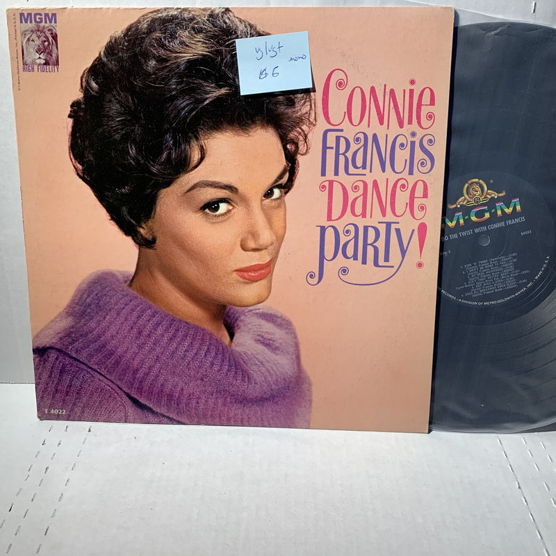 Connie Francis Dance Party- MGM 4022 VG/VG+ Mono Pop Vocal Record LP