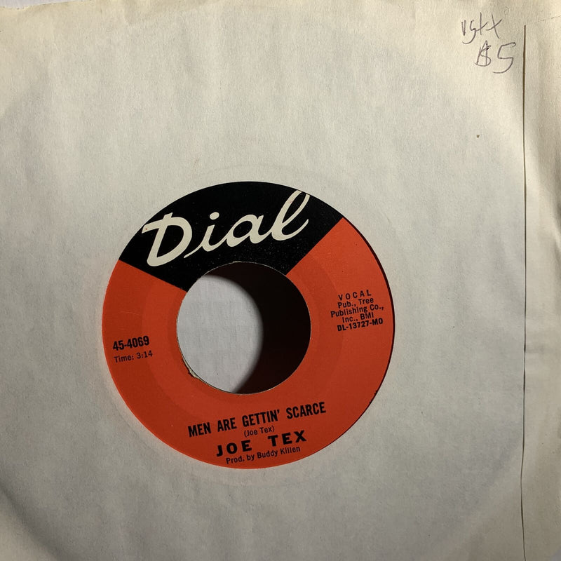 Joe Tex Men Are Getting Scarce- Dial 45 4069 VG++ Soul 45rpm Record Single