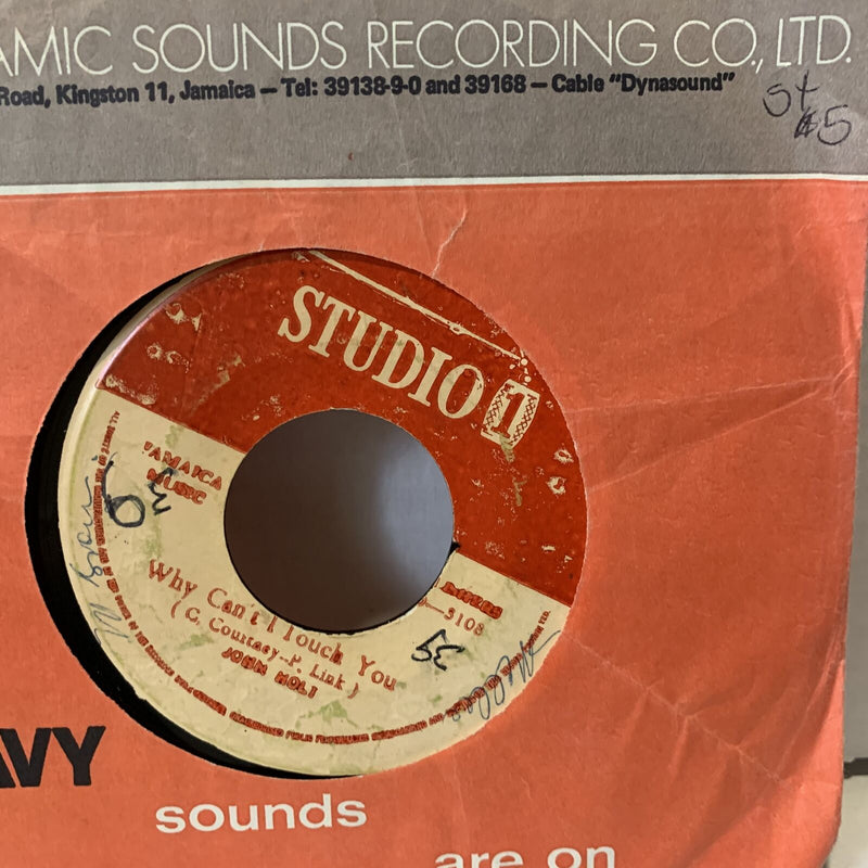 John Holt Why Cant I Touch You- Studio 1 G+ Reggae 45 Record Single Jamaica