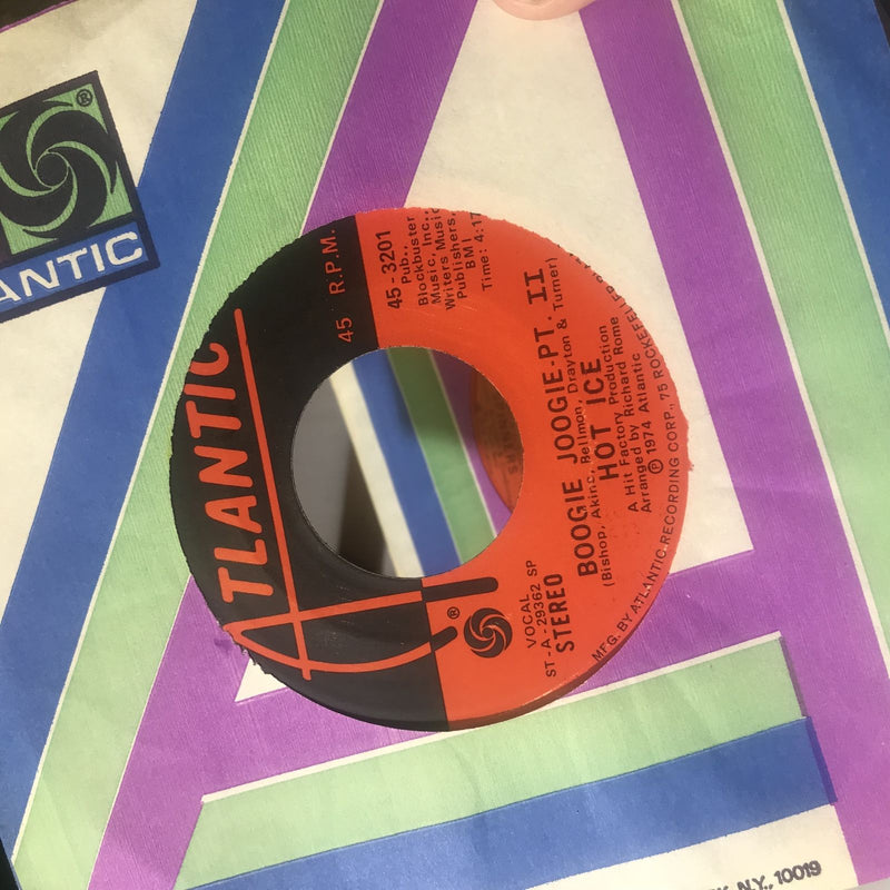 Hot Ice- Boogie Joogie- Atlantic 45-3201- EX Disco 45
