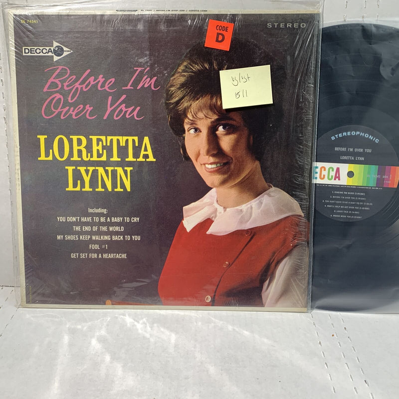Loretta Lynn Before Im Over You- Decca 74541 VG/VG+ Country Record LP