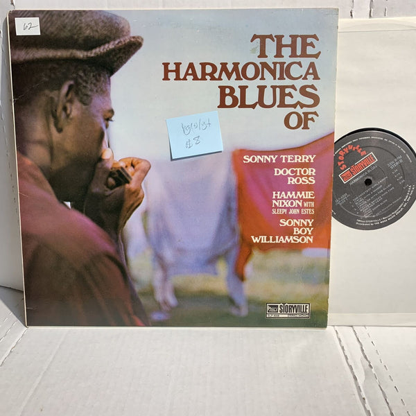 The Harmonica Blues Of Sonny Terry Sonny Boy Storyville Blues Comp LP VG(+)