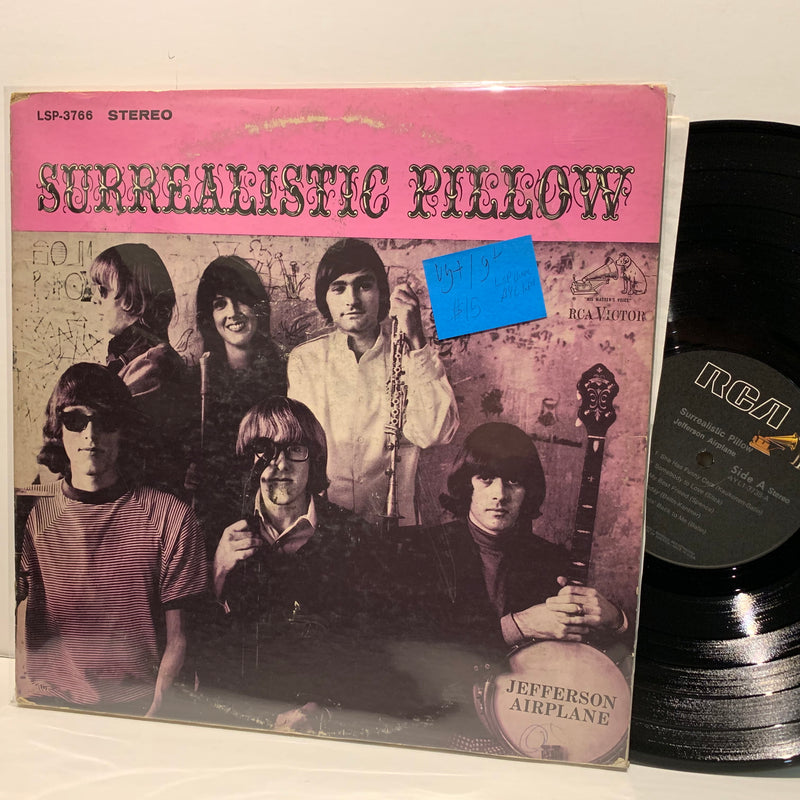 Jefferson Airplane- Surrealistic Pillow- RCA Psych Rock LP- VG+/G+ LSP sleeve, AYL Label