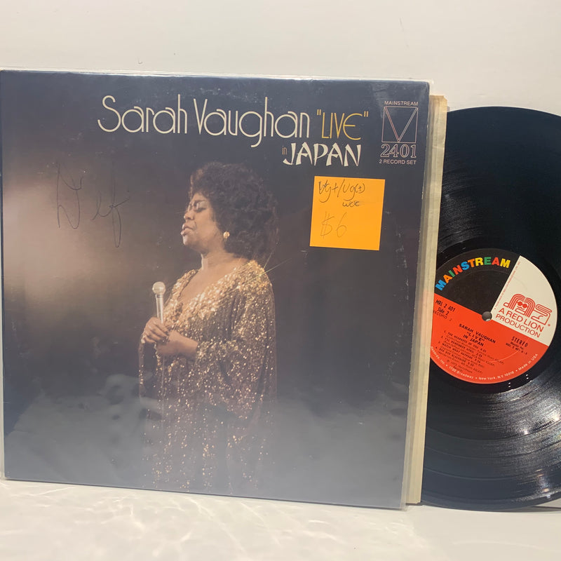 Sarah Vaughan- Live In Japan- Mainstream Red Lion Soul LP- VG+/VG(+) WOC