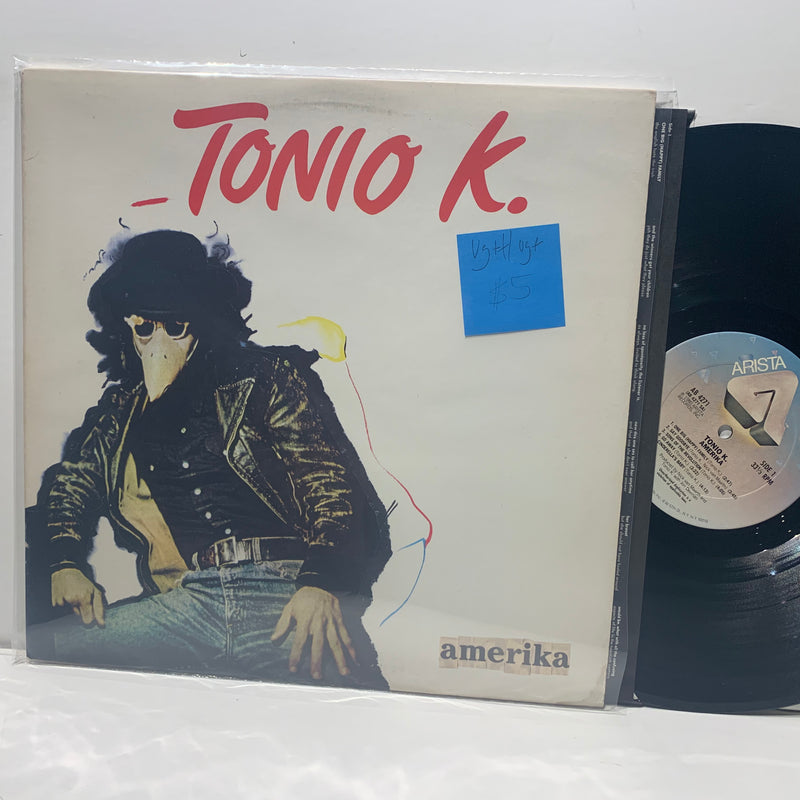 Tonio K- Amerika- Arista Rock LP - VG++/VG+