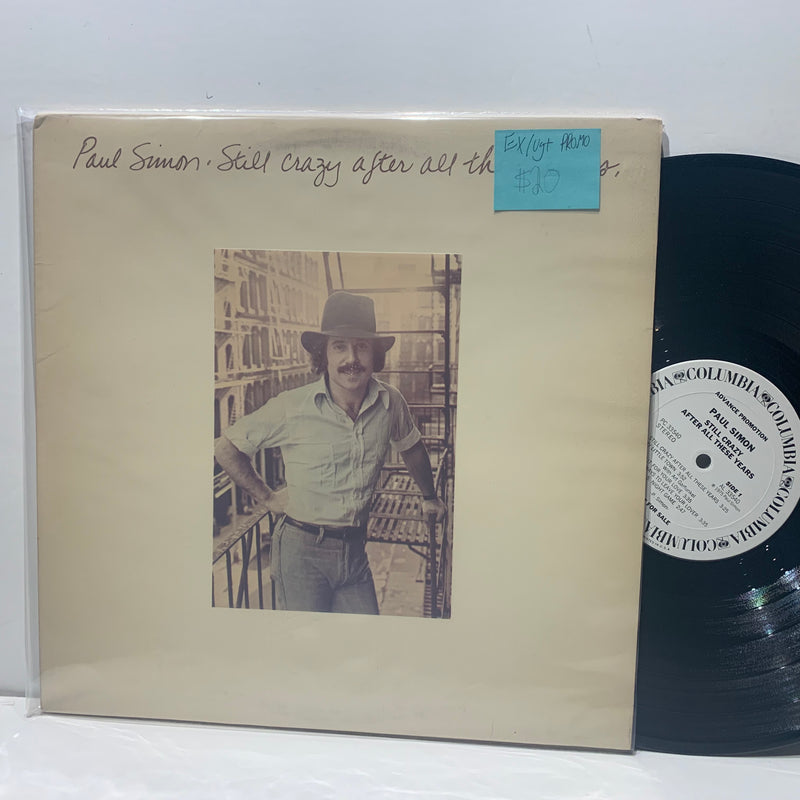 Paul Simon- Still Crazy After All These Years- Columbia Promo Rock LP- EX/VG+