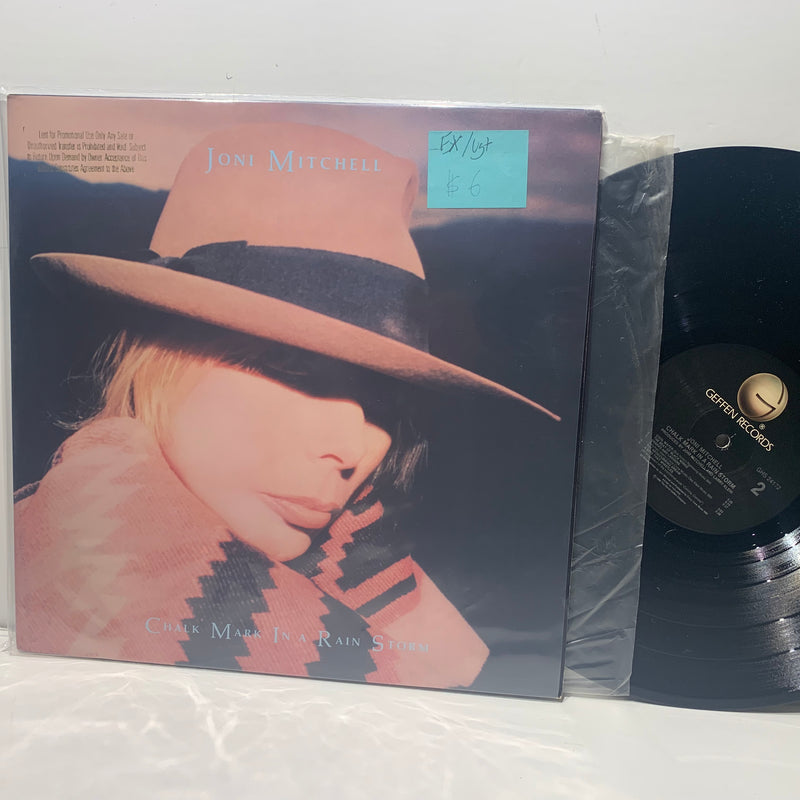 Joni Mitchell- Shalk Mark In A Rain Storm- Geffen Folk Rock LP- EX/VG+