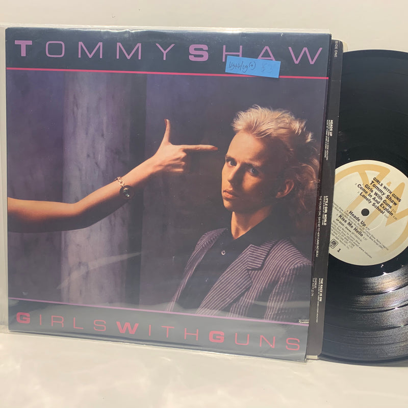 Tommy Shaw- Girls With Guns- A&M Arena Rock LP- VG++/VG(+)