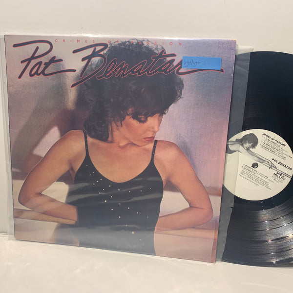 Pat Benatar- Crimes Of Passion- Chrysalis White label Hard Rock LP- VG+