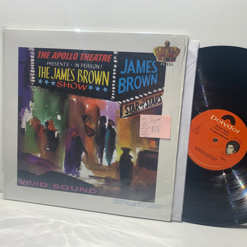 James Brown Show- Live At The Apollo- VG/VG++ Polydor Soul LP