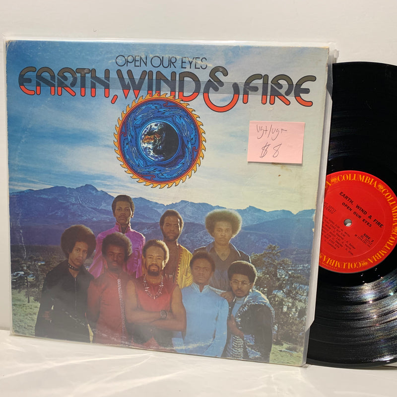 Earth Wind & Fire- Open Your Eyes- Columbia Soul Disco LP- VG+/VG+-