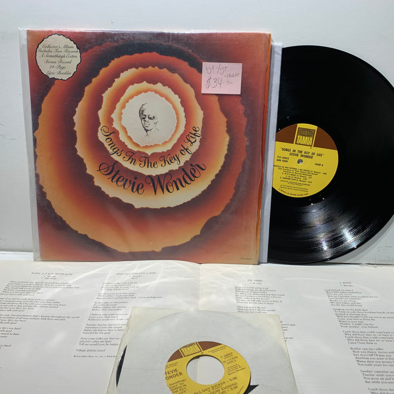 "Stevie Wonder- Songs In The Key Of Life- Tamla Soul LP w/ 7"" and Booklet"