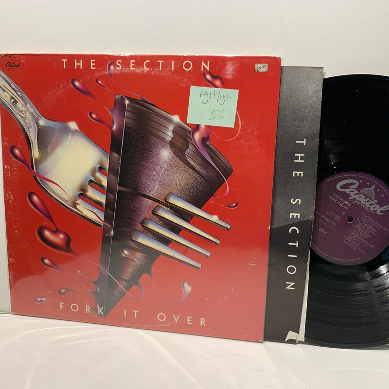 The Section- Fork It Over- Capitol Jazz Funk Fusion LP- VG++/VG+-