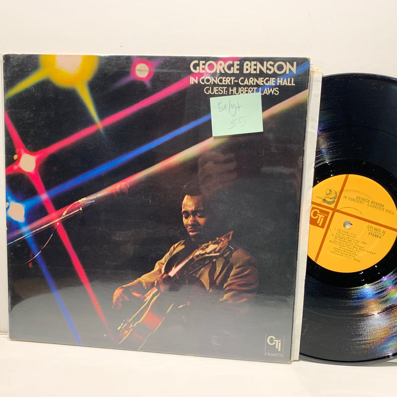 George Benson- In Concert Carnegie Hall Hubert Laws- CTI Jazz LP- EX/VG+