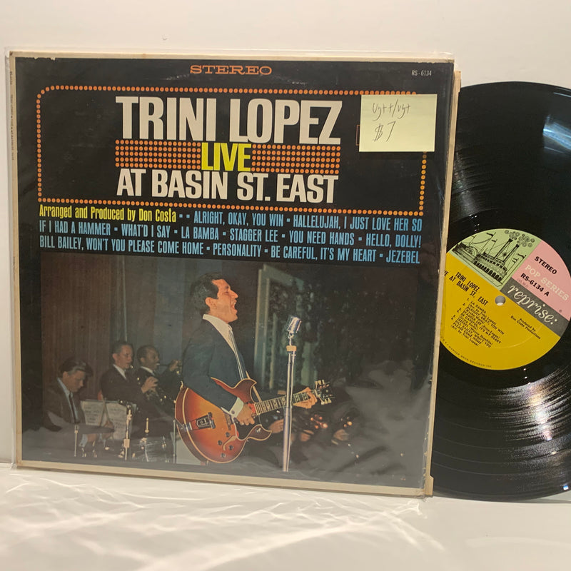 Trini Lopez- Live At Basin St East- Reprise Steamboat Label- VG++/VG+ Latin Pop LP