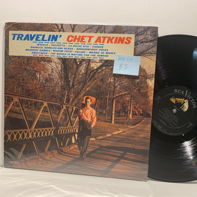 Chet Atkins- Travelin- RCA Country LP- EX/VG+ /VG+