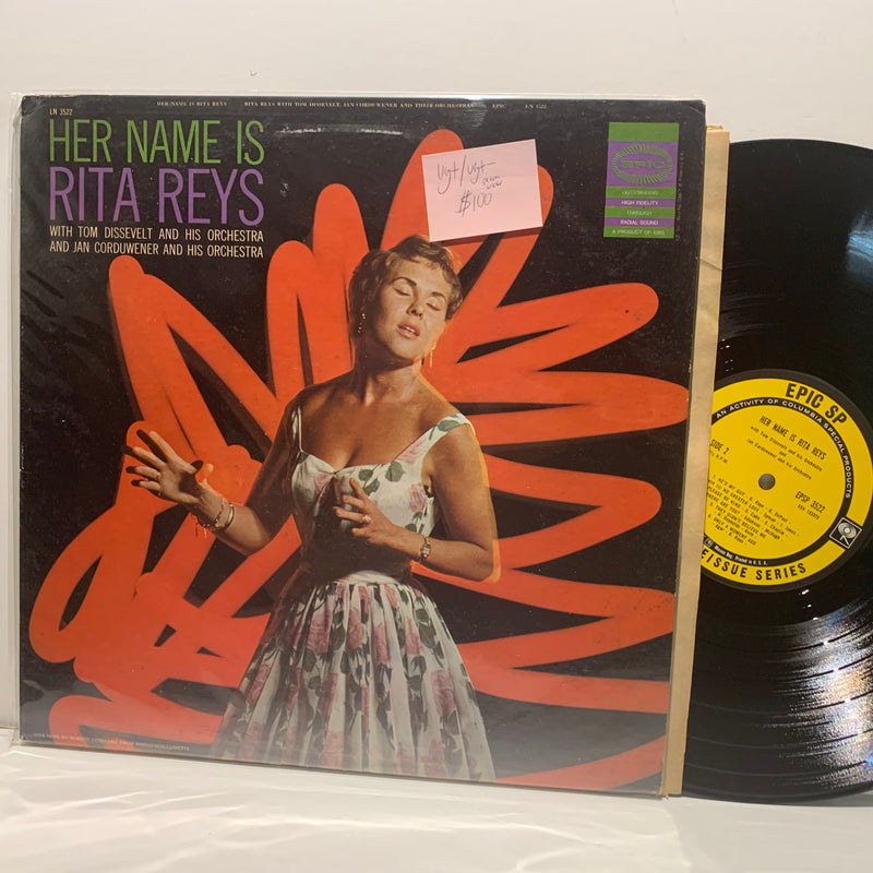 Rita Reys- Her Name Is- Epic SP Jazz LP- VG+/VG+-