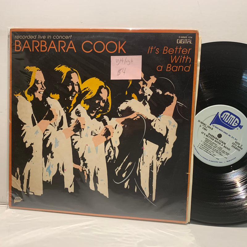 Barbara Cook- Its Better With A Band- MMG Jazz Pop LP- VG++/VG+